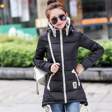 Chaqueta de invierno con capucha  de algodón acolchado para Mujeres