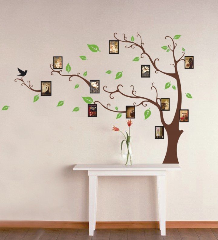 2013 big tree photo kids removable vinyl wall stickers for for Wall decals kids room