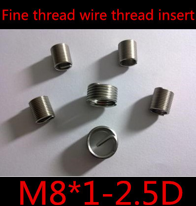 High Quality M8*1.0*2.5D  M8*24mm Stainless Steel 304  Fine Thread  Wire Thread Insert For ISO Metric Screw Threads<br><br>Aliexpress