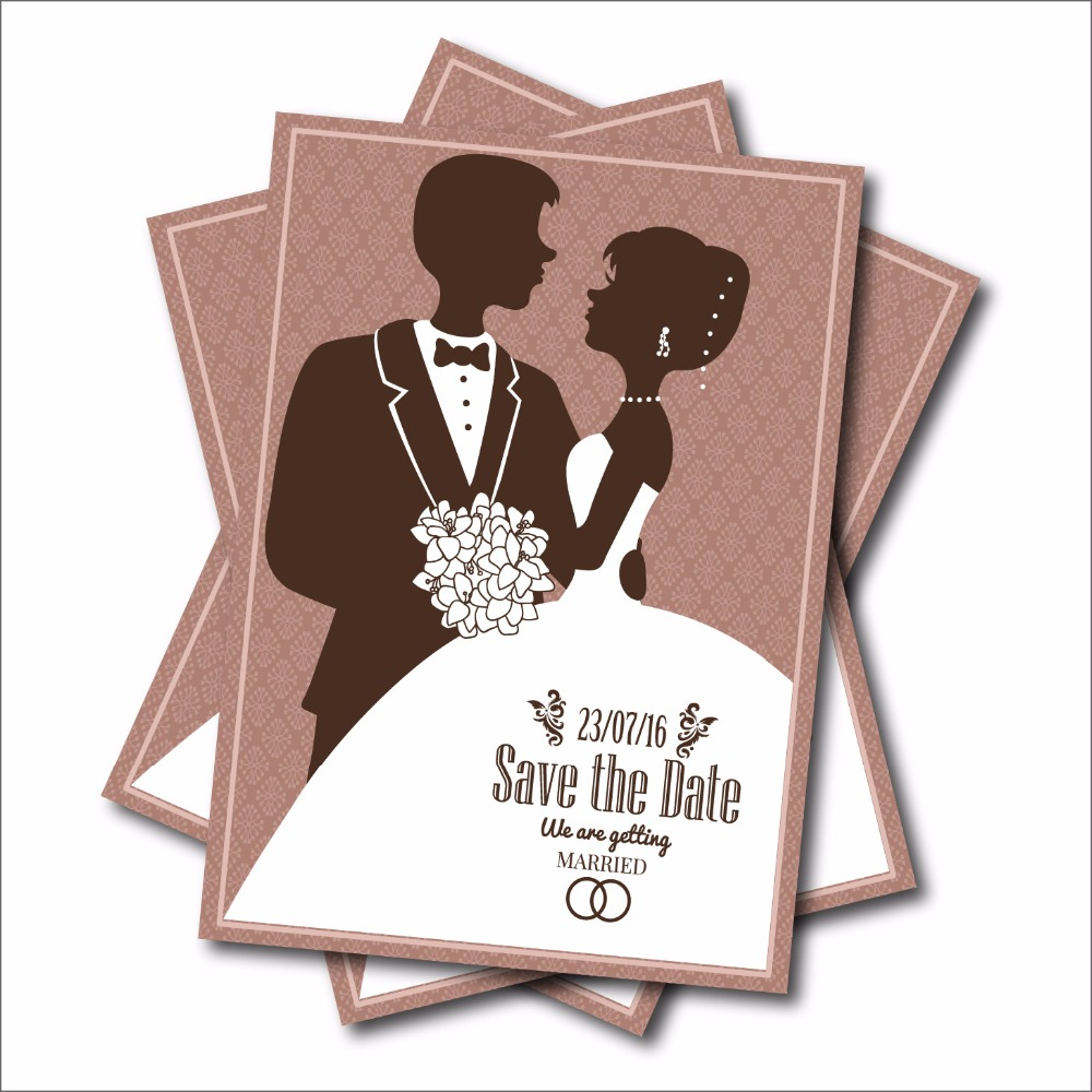 20 pcs Rustic Wedding invitation Vintage Save the Date Postcard print party decoration supplier wedding gifts free shipping(China (Mainland))