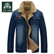 M~4XL New Retro Warm Denim Jackets Mens Jeans Coats Winter Jackets Brand AFS JEEP Thicken Denim Coat Men Outwear Male Asian Size(China (Mainland))