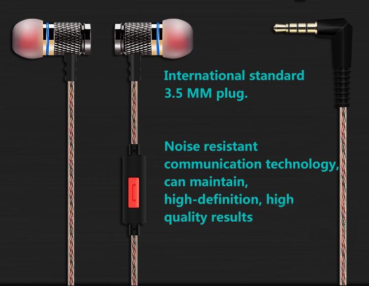 QKZ X2 Enthusiast Bass Ear Earphone Copper Forging 7MM Shocking Headset Anti-Noise Microphone Sound Quality Fone De Ouvido