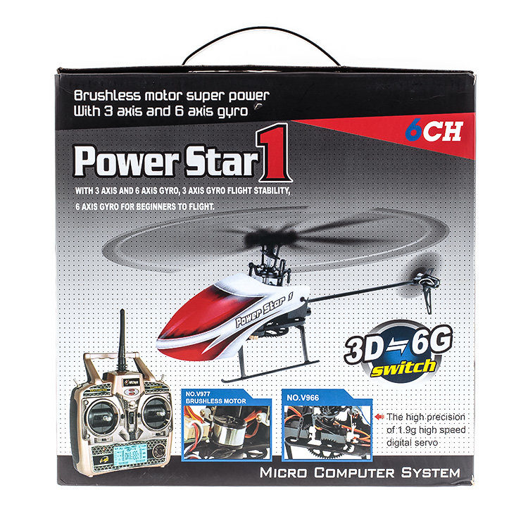 WLToys V966 6CH 2.4G RC Helicopter Power Star 16CH Flybarless Micro 3D Helicopter RTF Combo(China (Mainland))