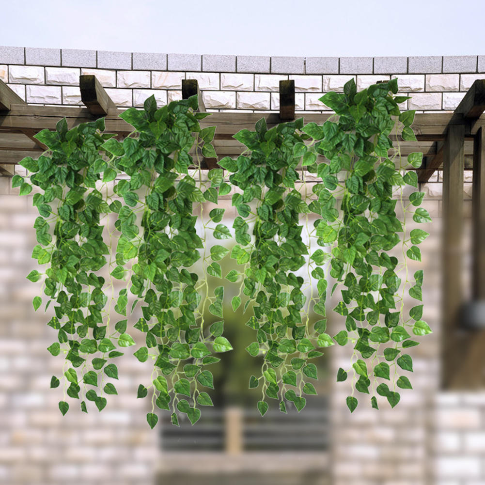 High Quality Artificial Fake Green Hanging Vine Plant Leaves Garland Wall Decoration Home Garden Wedding Party Supplies 90cm(China (Mainland))