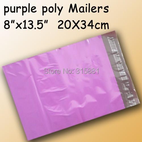 "Purple poly mailer/poly bag/ poly envelope 8""x13.5"" 20x34mm 50pcs/lot(China (Mainland))"