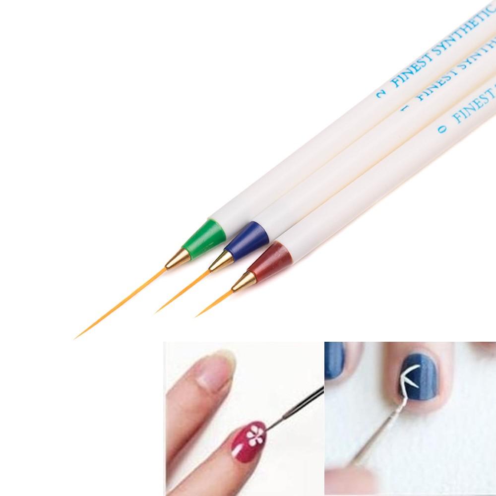 3PCS 3D Nail Art professional nail brushes Design Set Dotting Painting Drawing Brush 2016 Beauty pens for nails decorations(China (Mainland))