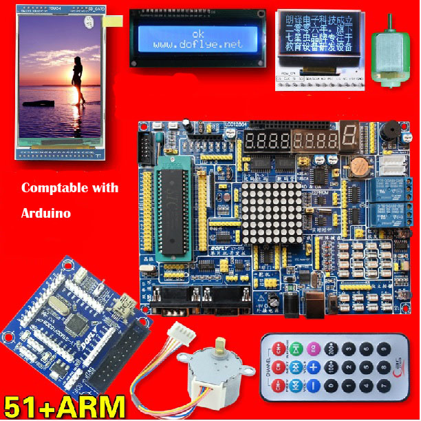 ARM 30 inch Touch Screen 51 Single Chip Microcomputer STM32 Learning Board Cduino UNO R3 Development Board Kit Starter(China (Mainland))