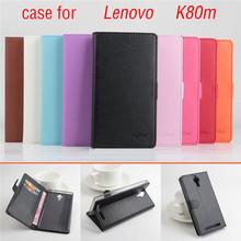 Lychee Fashion For Lenovo K80M Case Original Leather Flip Case Cover Open Upside Down Back Case leather case For Lenovo K80 K80M