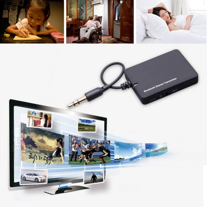 Mini 3.5mm Bluetooth Audio Transmitter A2DP Stereo Dongle Adapter for TV iPod Mp3 Mp4 PC Bluetooth Audio Music Receiver(China (Mainland))