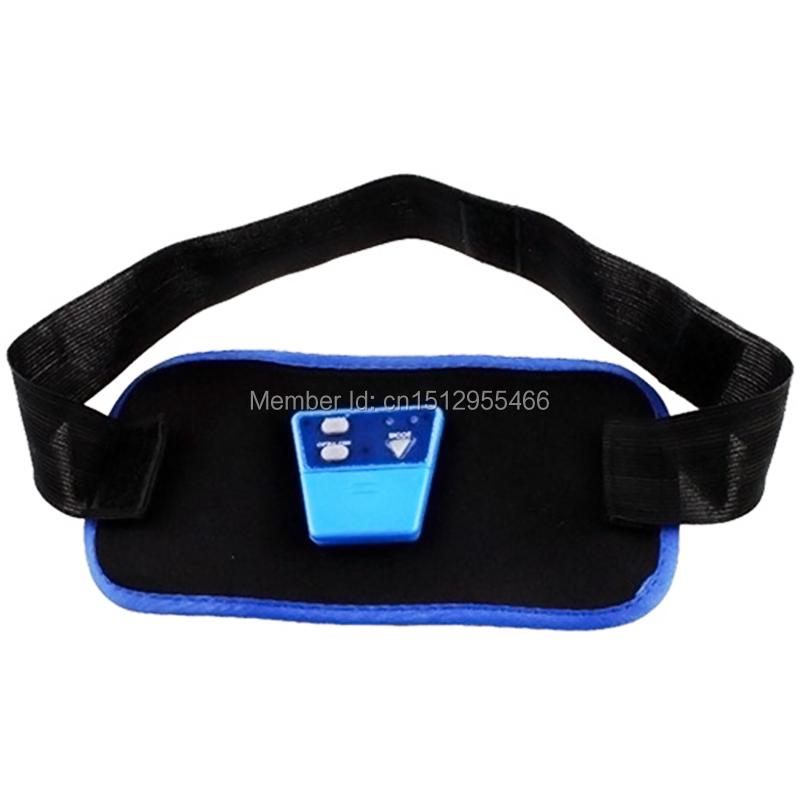 2015 New 1pc Electronic AB Gymnic Gymnastic Body Building ABS Belt Exercise Toning Toner Waist Muscle body massager#ZH260(China (Mainland))