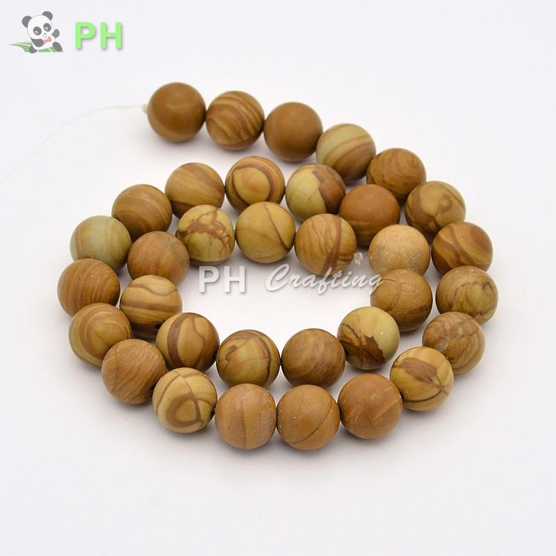 Natural Wood Lace Stone Beads for DIY Jewelry Making 12mm Round Loose Spacer Beads Fit Handmade Bracelets Necklace 33pcs/strand(China (Mainland))