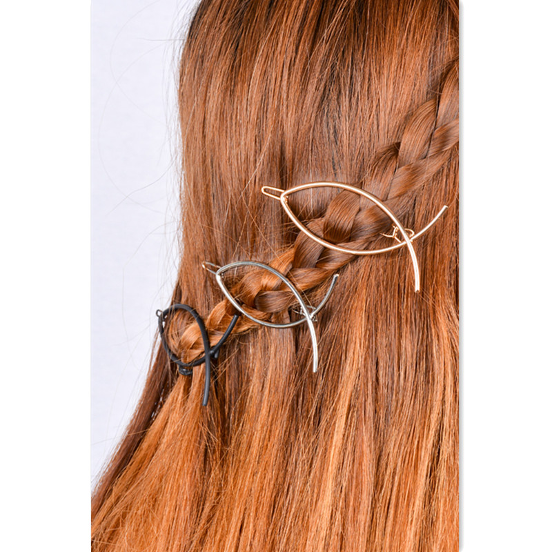 Punk Style Hair pin Clip Vintage Fish Shape Art Geometry Copper Hair Pin Barrette Hair Accessory Head Band Jewelry Accessory(China (Mainland))