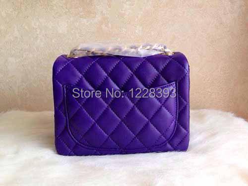 Asidun classic cover flap chains plaid messenger mini bag cf samll mini 17cm with sheepskin genuine leather messenger bags<br>