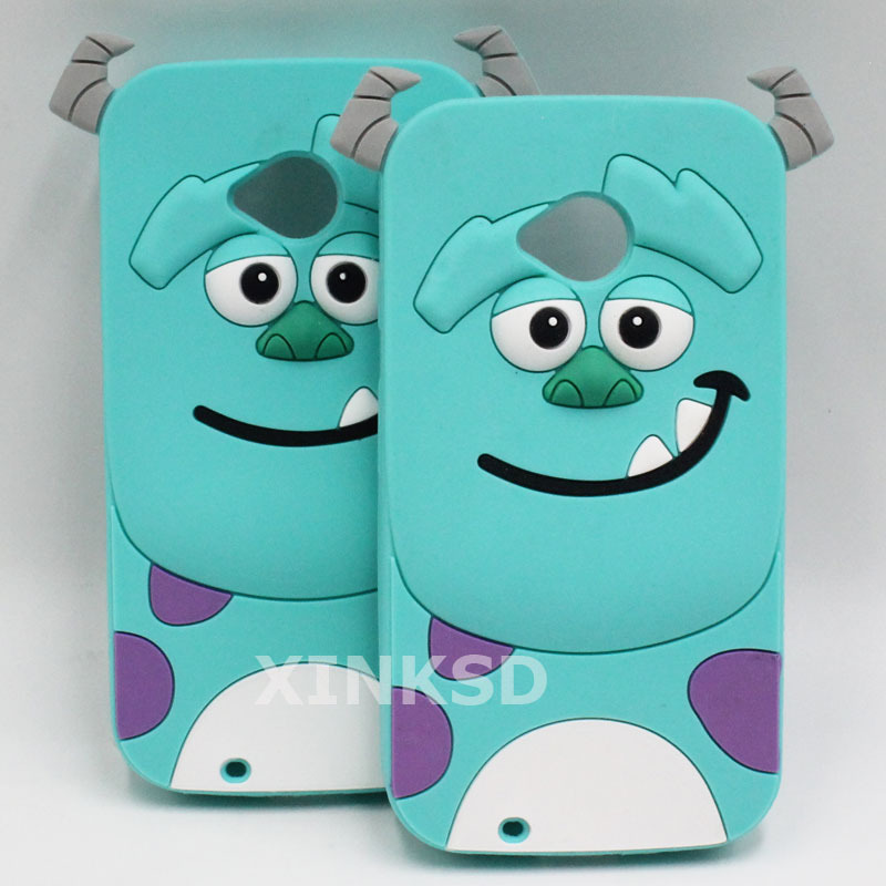 For MOTO G G2 X X2 E2 Case Hot Selling 3D Silicone Sulley Sullivan Cell Phone Back Cases Cover For Motorola Moto G 1 G 2 X X2 E2(China (Mainland))