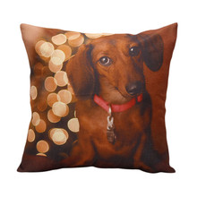 Happy home Pillow case personalized pillowcase Christmas Moetry Dog Good Quality Festival Pillow Case Pillow Shams