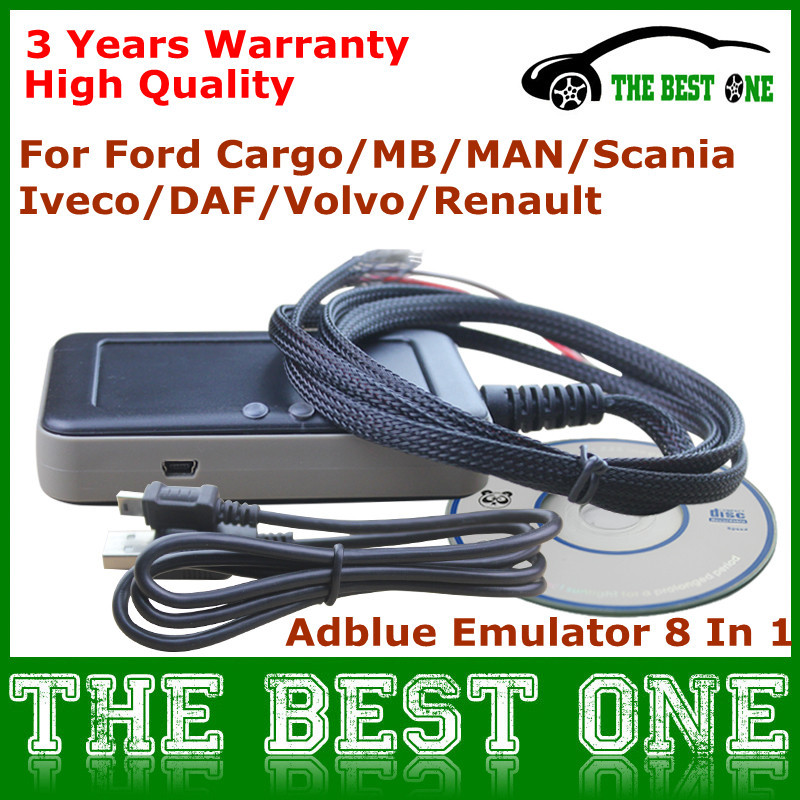 Newly V3 Emulator Adblue 8 in1 With Nox Sensor Professional Ad blue Remove Tool 8 In 1 For Truck Bus Heavy Vehicle With Euro 4&6(China (Mainland))