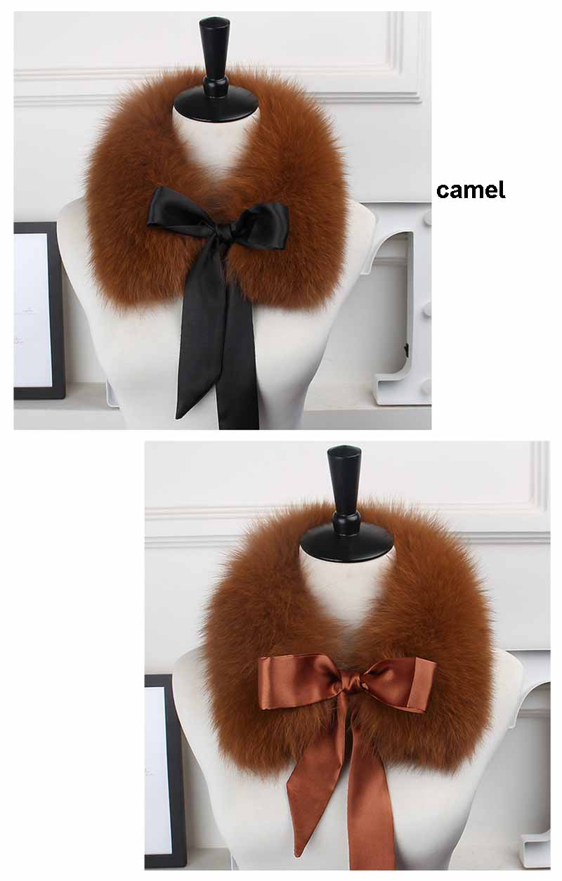 fox fur collar lace camel
