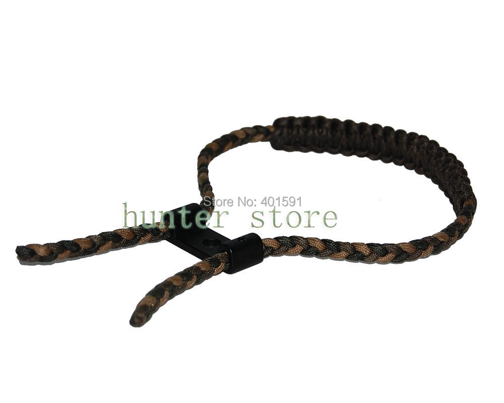 a paracord nylon knitting bow hunting sling w/wrist strap and durable supporter fit for compound bow free shiping <br><br>Aliexpress