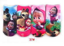 6Pair/lot 3D Printing Cartoon Pattern Cotton Children's Girls Boys Socks Baby Kids Socks 20 Kind Of Style Suitable For 2-10 Year(China (Mainland))