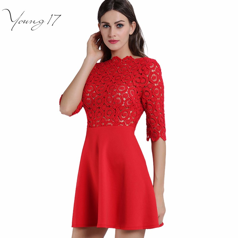 red lace dress 1
