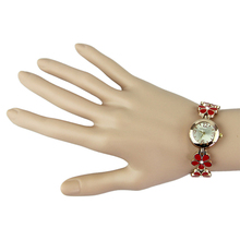 Delicate New Cute Daisies Flower Rose Gold Bracelet Wrist Watch Women Girl Gift White Rose DarkKhaki
