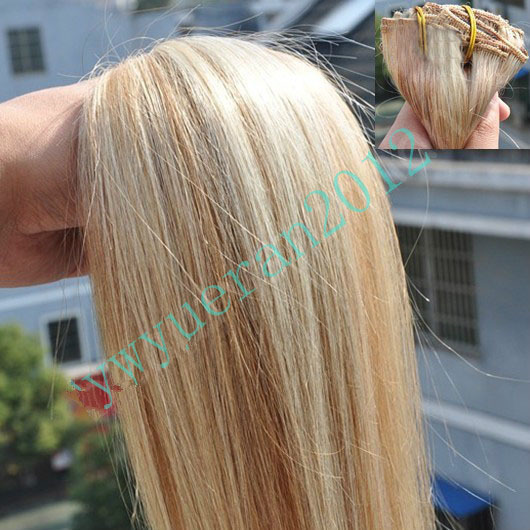 Virgin Brazilian #12/613 Brown Mix Blonde 200g AAA+16-32 100% Remy Human Hair Extensions Weaving Double Weft free shipping<br><br>Aliexpress