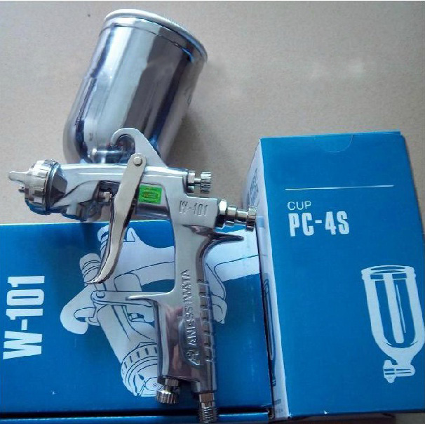HVLP SPRAY GUN ANEST IWATA W-101 hand manual gravity spray gun 1.3/1.5/1.8mm, Japan made, IWATA SPRAY GUN Car PAINT spray gun(China (Mainland))
