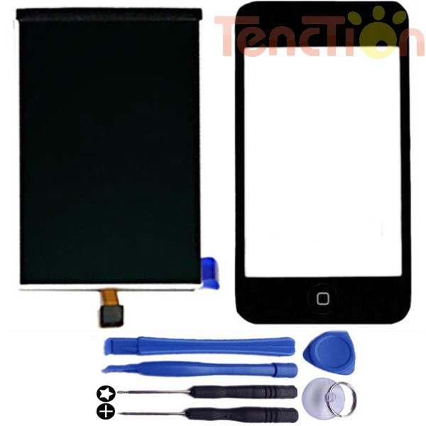 LCD Display+Touch Screen Digitizer Front Panel Glass Lens Frame Home Button Flex Cable Assembly for iPod Touch 3 Gen 3rd 3G Tool(China (Mainland))