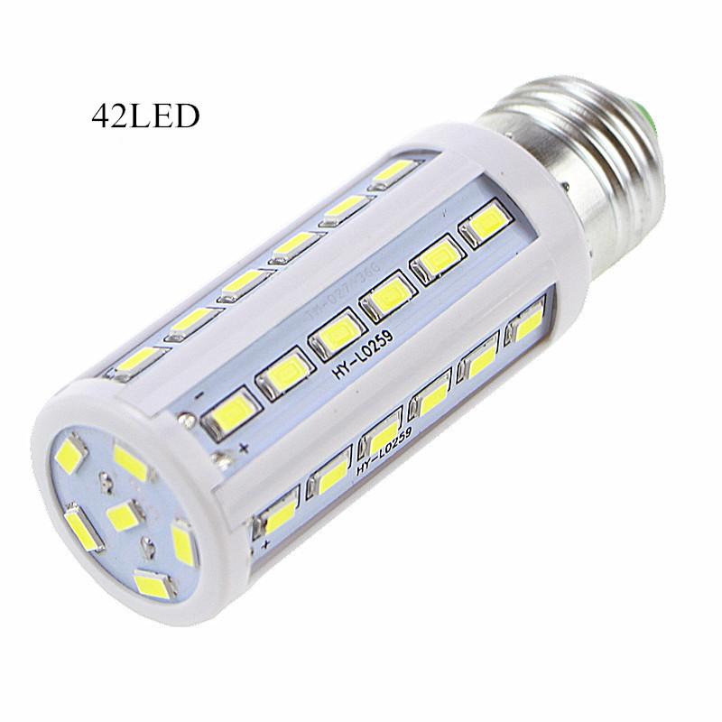 Dimming 5pcs/lot 12W 110V/220V LED bulb Corn Light E27 E14 B22 led lamp 42 LEDs 5730/5630 Warm White Cool White Led Bulbs&Tubes(China (Mainland))