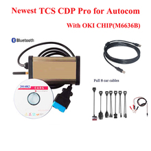 Newest 2014R2 diagnostic tool for autocom cdp pro 2015 with OKI CHIP OBD2 Scanner tool Cars&Trucks+bluetooth +Full 8 car cables(China (Mainland))