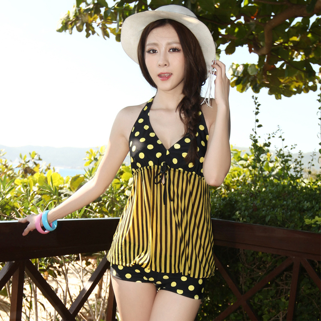 Women's fashion one-piece dress hot spring swimwear big small push up swimwear female swimsuits 2013