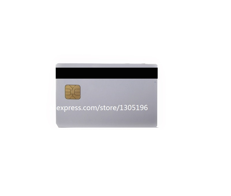 2 in 1 Blank 4442 Magnetic Contact IC Chip Card With SLE 4442 Chip &With Hico Magnetic Stripe Smart Card Combi-card(China (Mainland))