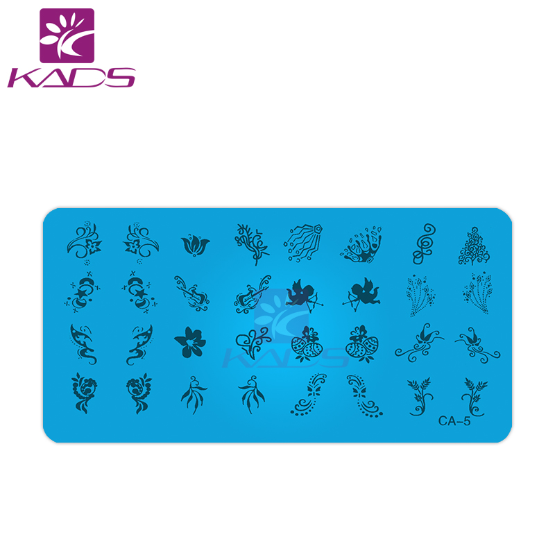 KADS 1Pcs DIY Nail Art Image Flower Design Tool Equipment Stamp Stamping Plates Manicure Template(China (Mainland))