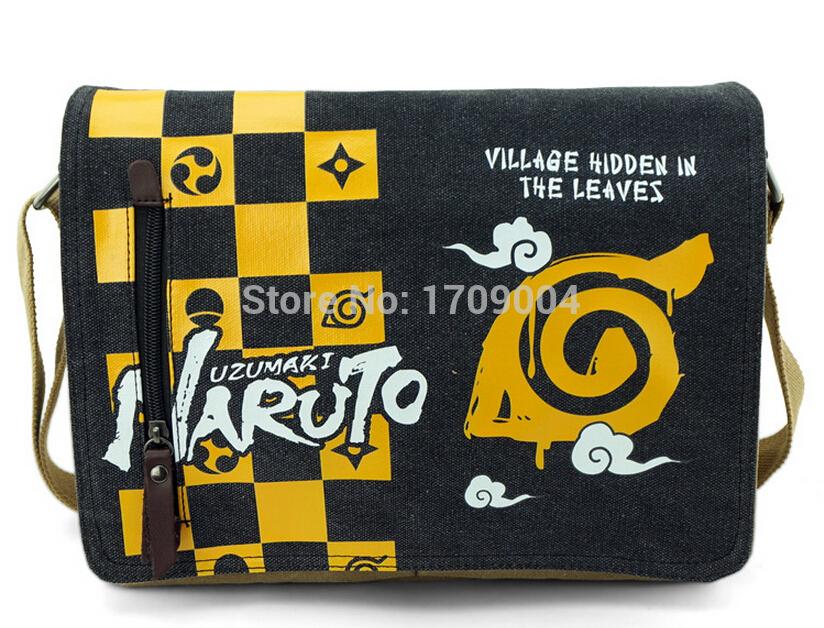Free Shipping Anime Manga Naruto Messenger Bag 31*26*7cm Women Men Bag 003(China (Mainland))