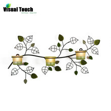 American Country Style Wall Mounted Iron Glass Candle Holder Candle Stand TeaLight Holder Home Wedding Decoration Vintage Metal(China (Mainland))