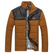 Selling 2014 new large size men's winter padded collar Korean fashion down cotton thick warm coat jacket men