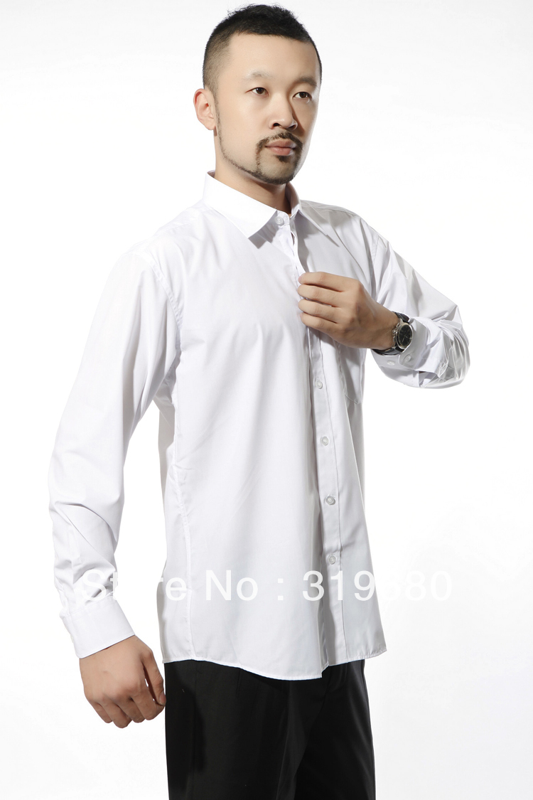 Male shirt light blue powder white shirt men 39 s clothing for Blue and white long sleeve shirt