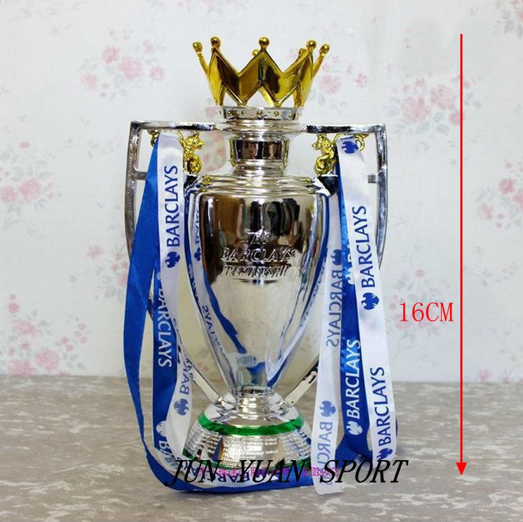 High quality 16CM 0.3KG British Premier League Trophy Soccer Football Replica Trophy resin,Free shipping(China (Mainland))
