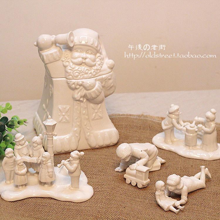 Villeroy boch christmas gift small white decoration ceramic storage jar(China (Mainland))