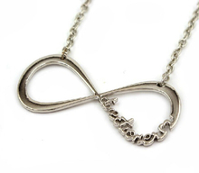 Elegant Women Infinity Necklaces Gold Silver and Black Plating One Directioner Infinity Bar Initial Necklace Jewlery