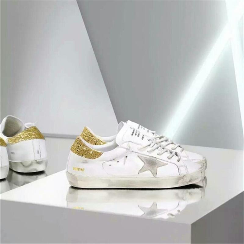 Bass White Shoes Golden Goose Yellow Women Men Genuine Leather Gz Ggdb Casual Shoes Scarpe Uomo Marque De Luxe Blancas Sapatilha hogan scarpe uomo
