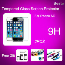 0.3mm 2.5D Tempered Glass Screen Protector For iPhone SE HD Toughened Protective Film + Cleaning Kit