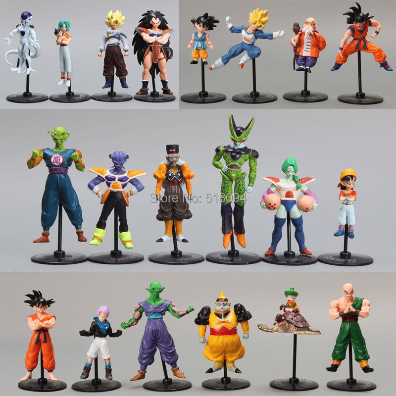 20pcs/set Dragon Ball Z GT Action Figures Crazy Party 10CM Cell/Freeza/Goku PVC Dragonball Figures Best Gift DBFG177(China (Mainland))