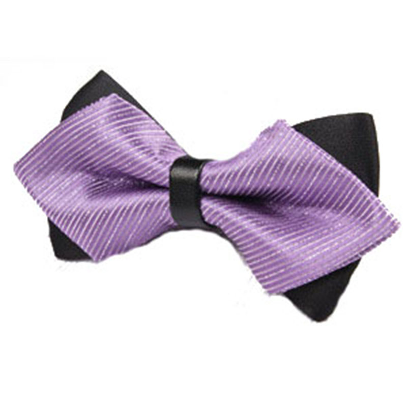 British Aristocracy Style Cravat Bowknot Men Sharp Double Bow Tie Solid Color Bow Wedding Groom Bowtie