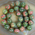 74 912 Semi precious Unakite stone Round Beads 4 6 8 10 12mm beads round stone