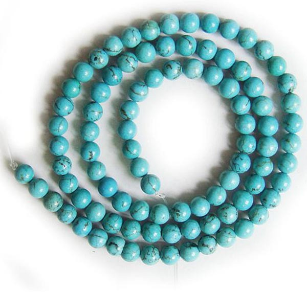 Free shipping (100PCS/Lot) wholesale Round Turquoise Gemstone Beads for jewelry,necklace,bracelet,earring<br><br>Aliexpress