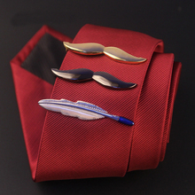 Men's Wedding Jewelry Cute Beard Ties Clips for Gentlemen Classy Necktie Tie Bar Clasp Clip Pin Business Anchors Ties Clips(China (Mainland))