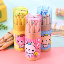 Buy 12 Colors Mini Watercolor Pencil Wood Drawing Pencil Prize Gift Kids Kawaii School Supplies Cute Stationery Papelaria for $1.64 in AliExpress store