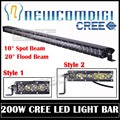 Eyourlife 43 Inch 200w Led Light Bar IP68 Led Work Driving Light Off Road 4x4 SUV