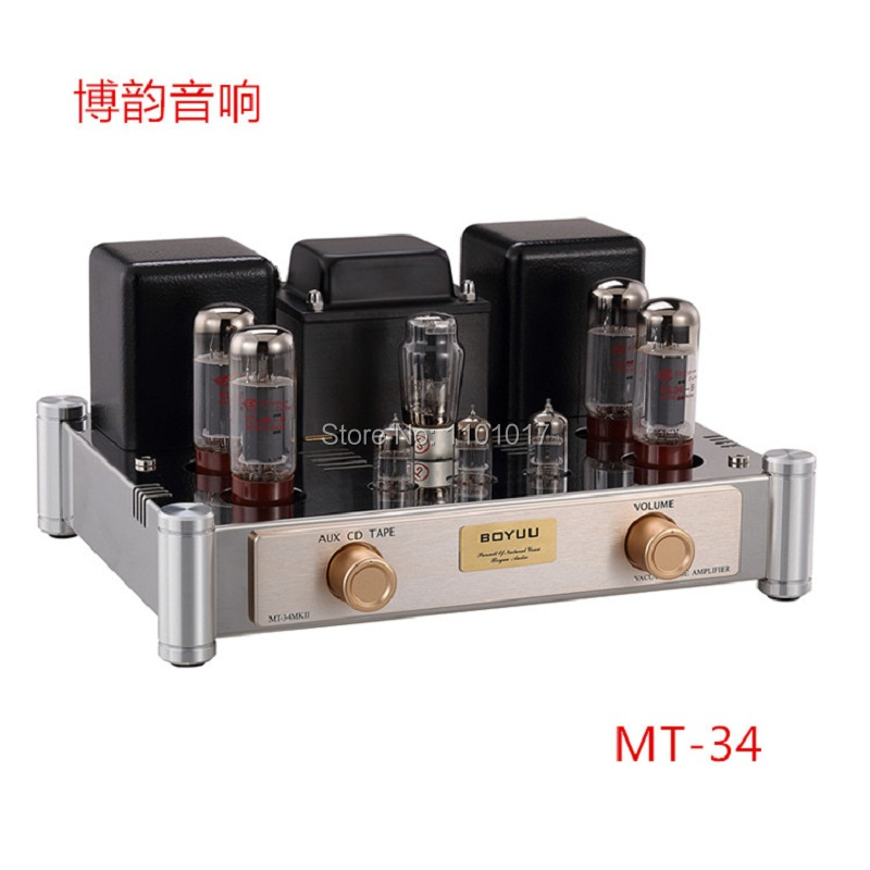 BOYUU New version MT-34 EL34 Push-Pull tube amplifier HIFI EXQUIS Class A finished product amp(China (Mainland))